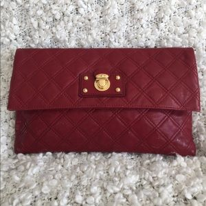Marc Jacobs Red Quilted Leather Clutch Bag